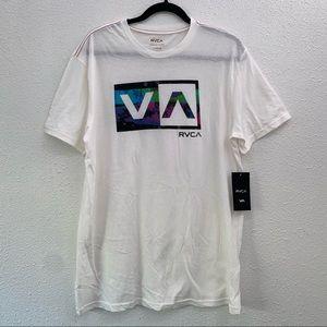 RVCA T-shirt, white, Large, vintage wash